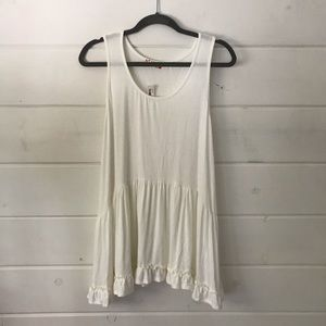 NWT Altar'd State Cream long blouse ruffle